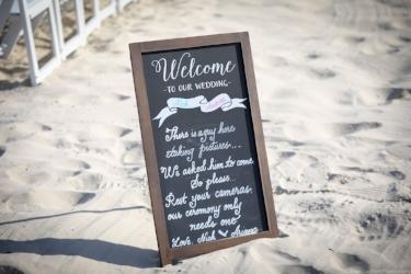 Beachwedding. Unplugged wedding sign. Nick and Ariana.jpg