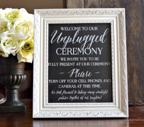 Unplugged wedding framed sign.jpg