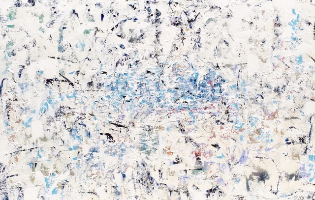 Kim Romero, Fireworks, acrylic on canvas, 40 x 60 inches. Price: Upon Request