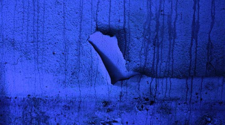 Marjorie Guyon , Blues, dye sublimation print on aluminum, 72 x 40 inches. Price: $7,000.