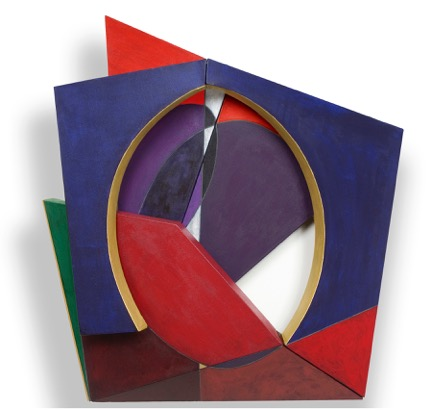 Marlene Siff, Tribute, acrylic on linen, 44.5 x 40.5 x 18 inches.  Price: $18,000.