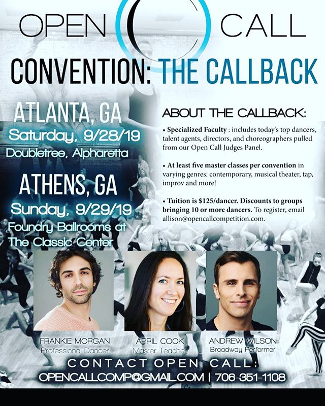 We're having three of my favorite teachers from New York in Athens and Atlanta- each for a day! Message me to register or for details!
