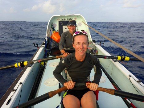 Sarah Hornby rowing across the Atlantic Ocean 2017.  Mint Wellbeing Physiotherapy Hip pain blog.