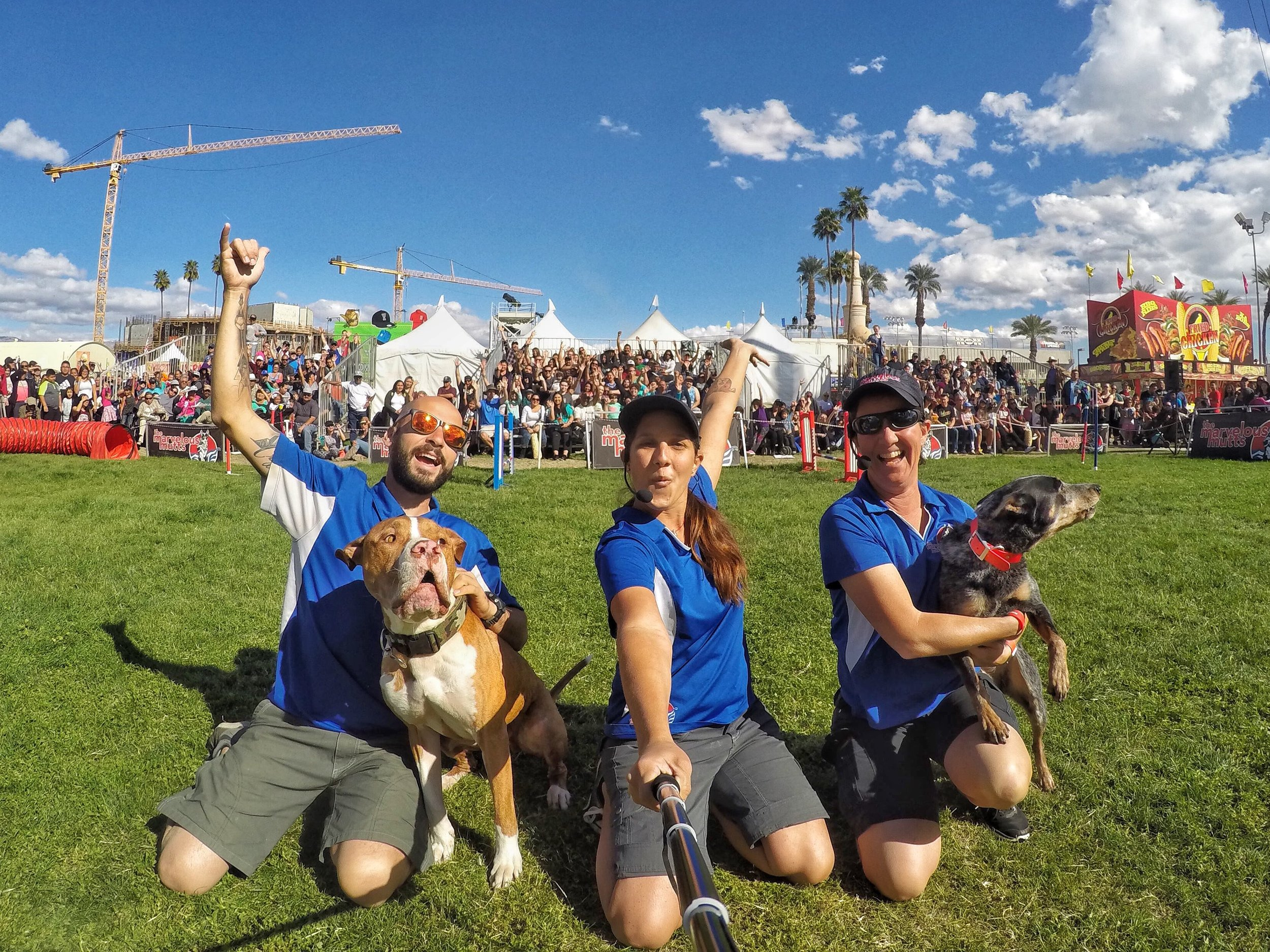 Chris, Bass, Deirani, Nadja and Ba-Ba-Lu on the last day of the Riverside County Fair & National Date Festival.