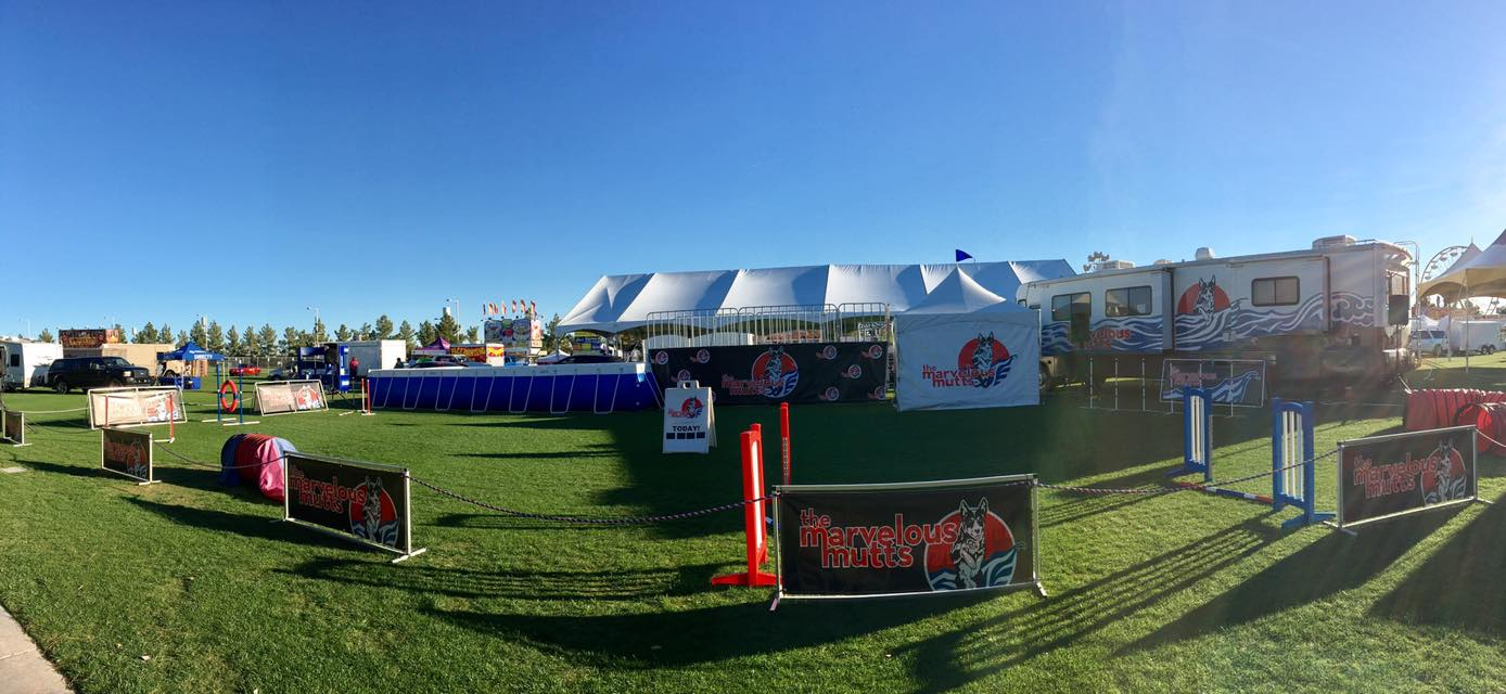 Our full outdoor setup on the Great Lawn at University of Phoenix Stadium in Glendale, AZ.