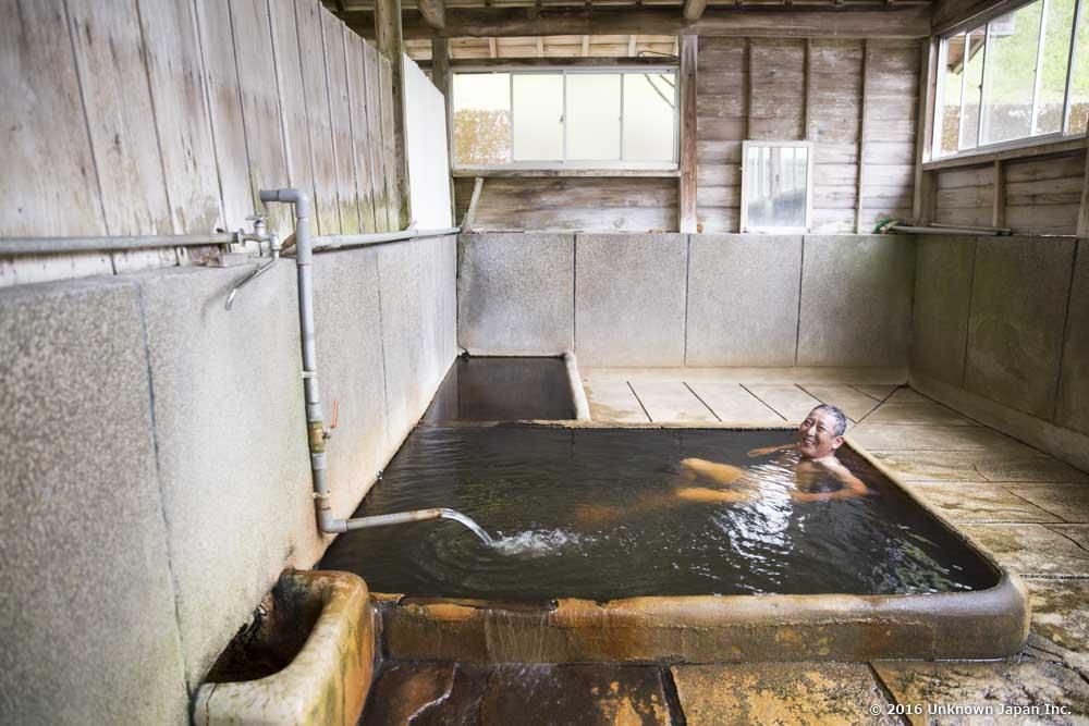 Maeda Onsen, bather