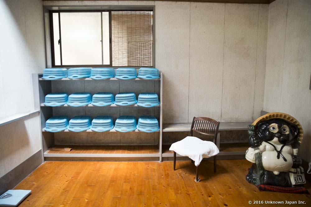 Haraguchi onsen, dressing room