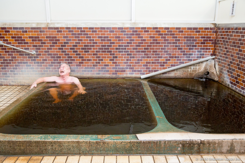 Haraguchi onsen, bather