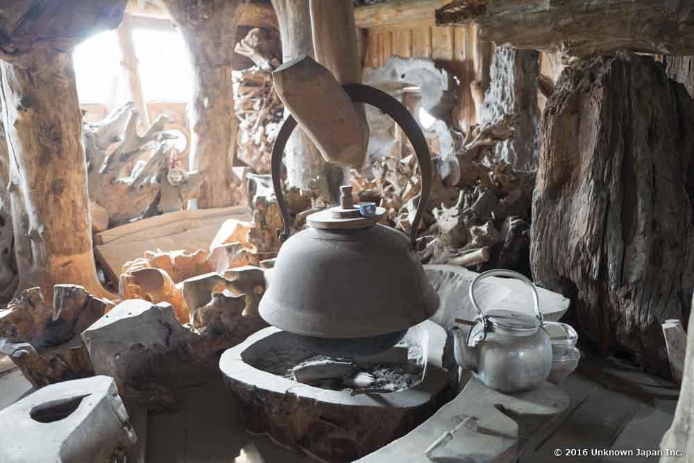 Kawanabe Onsen, kettle
