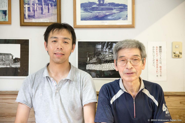 With the owner  Masayasu Miyata , in the lounge