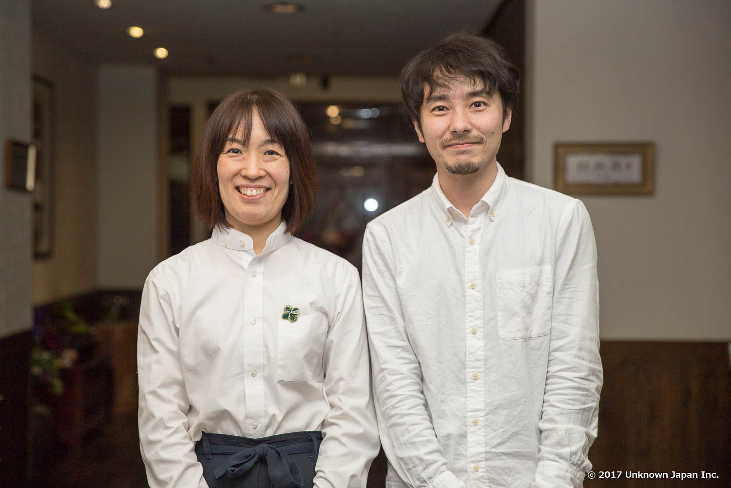 With the manager  Sayaka Katsuraghi  in the lobby