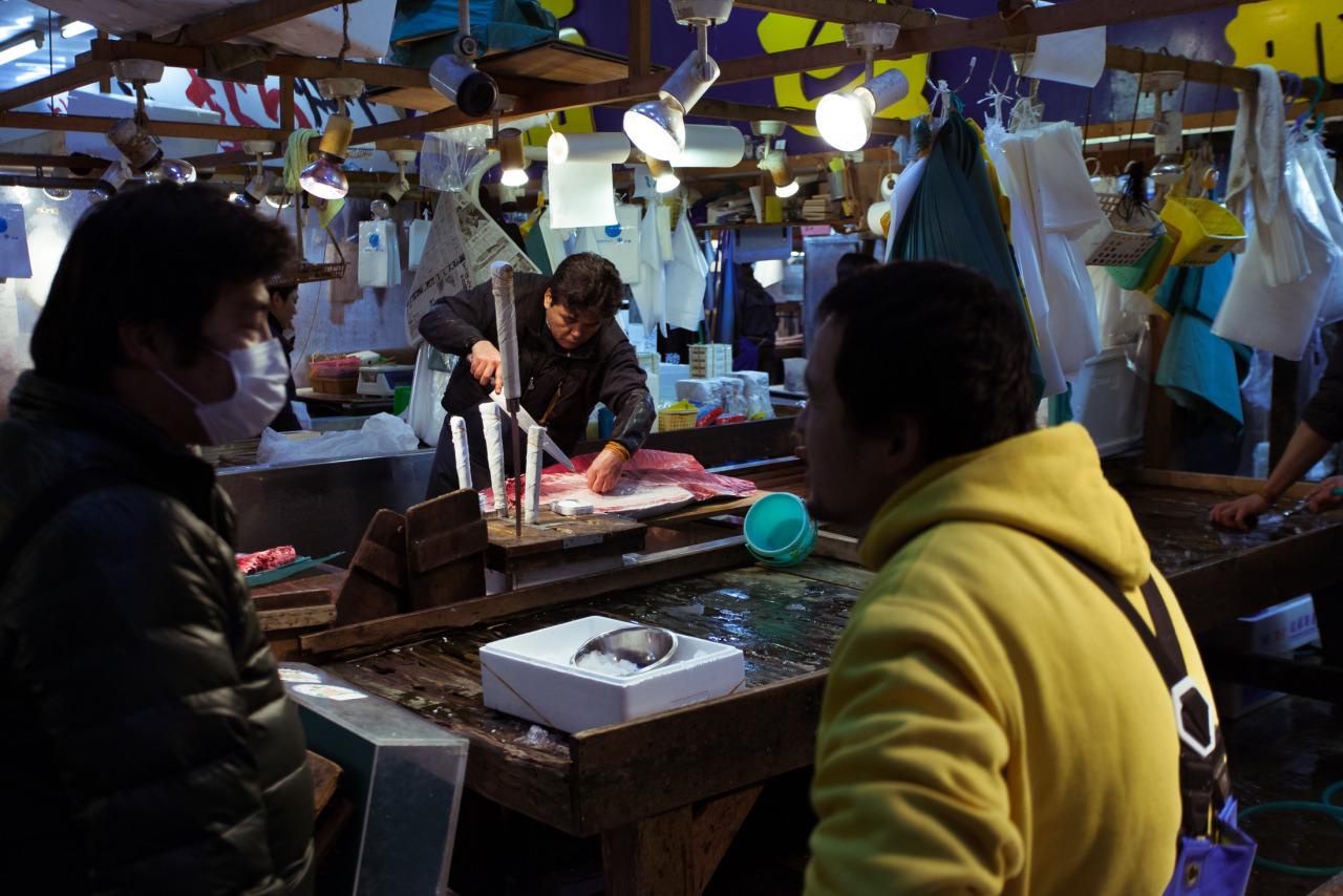 Tsukiji Fish Market. December 2014