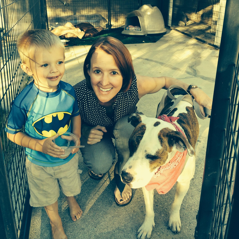 Tara w/ her nephew and Scout