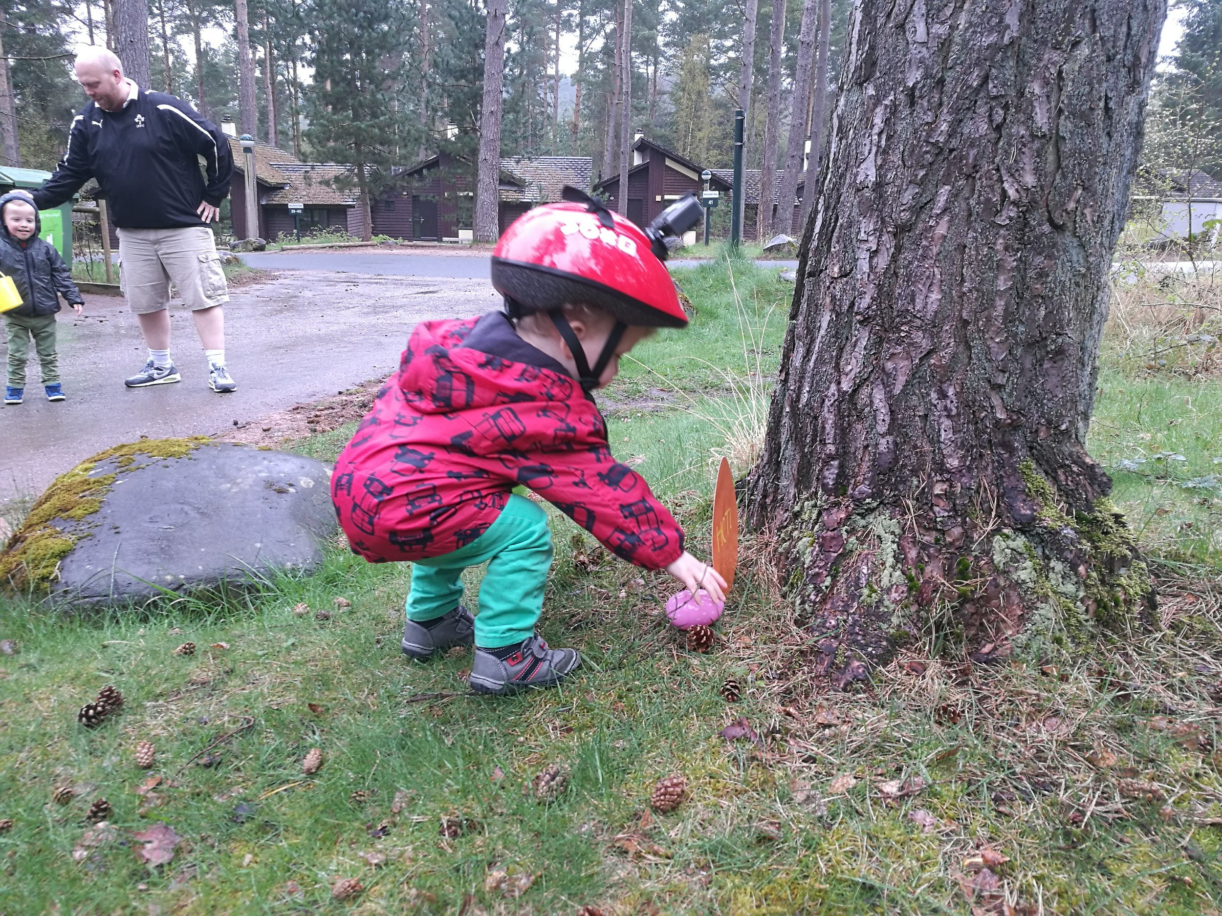 Our Easter Sunday morning egg hunt. Yep, we put a go pro on Rory's head to record it...!