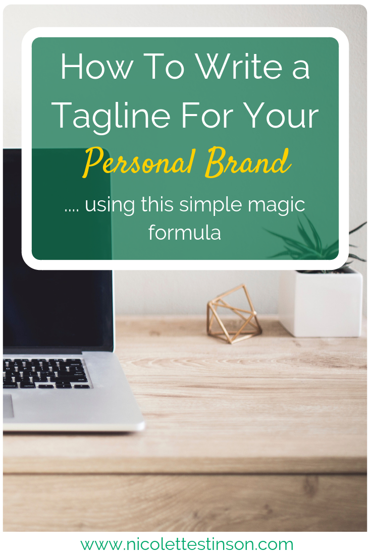 How To Write A Tagline For Your Personal Brand