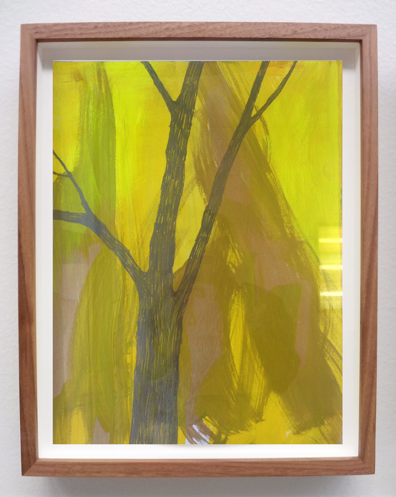 Meghan Gerety  Various Titles, 2014-2016 graphite and acrylic on paper 14 x 11 in.framed in waxed walnut