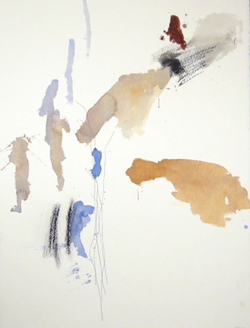 Michael Rich  Tuscania Drawing 46 , 2007 mixed media on paper 30 × 22 in.
