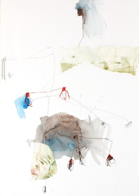 Michael Rich  Tendrils 1 , 2015 mixed media on paper 30 × 21 in.