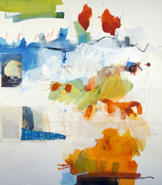 Michael Rich  Untitled 3 , 2008 mixed media on paper 34 × 30 in.