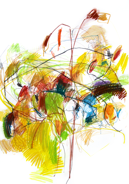 Michael Rich  A Warmer Fall than Usual  mixed media on paper 42 × 30 in.
