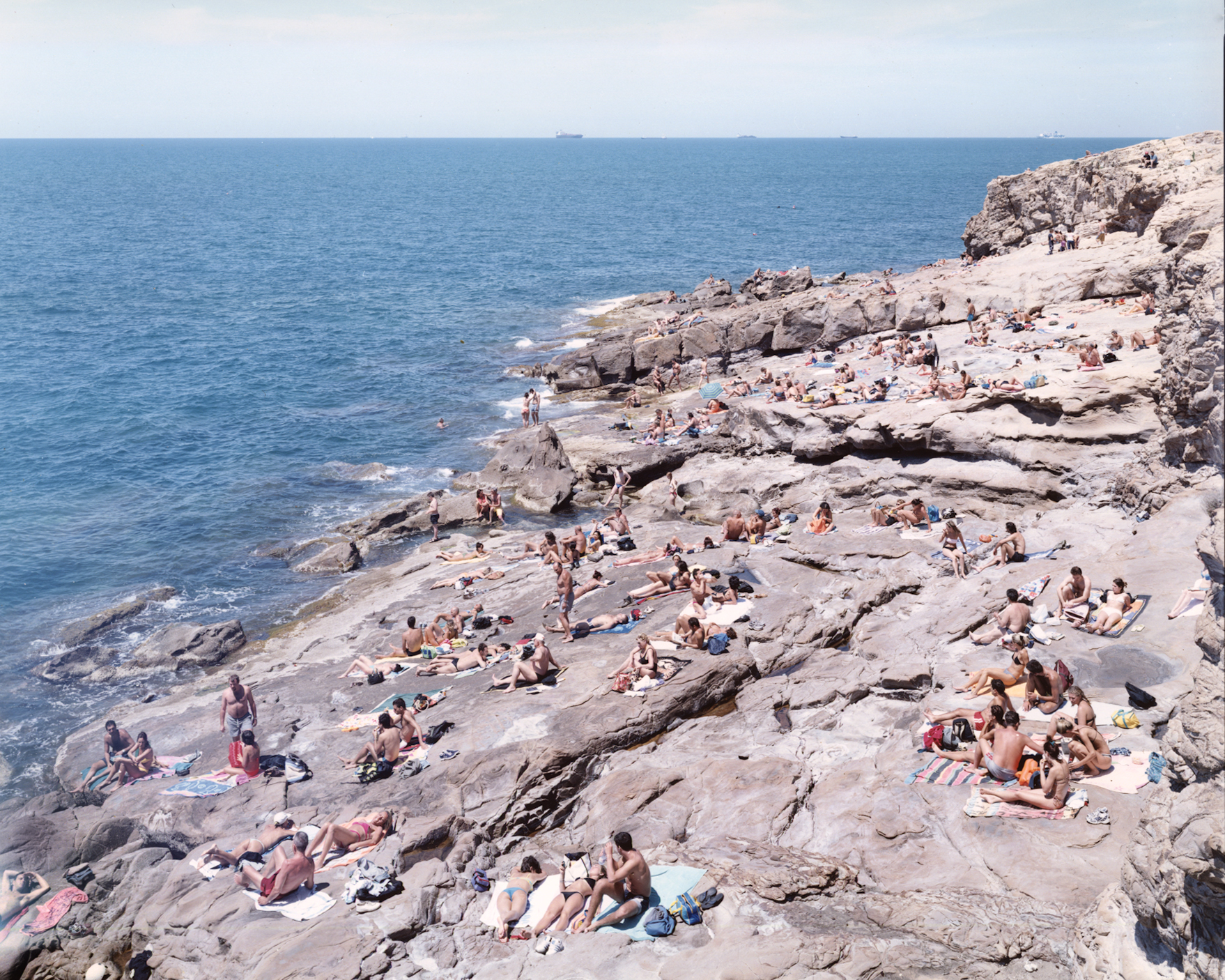 Massimo Vitali  Calafuria, Italy,  2007 chromogenic print with Diasec mount 60 x 72 in.  edition of 6