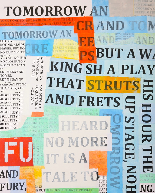Macbeth In Turnaround , 2013 Mixed Media 60 × 48 in. (152.4 × 121.9 cm)