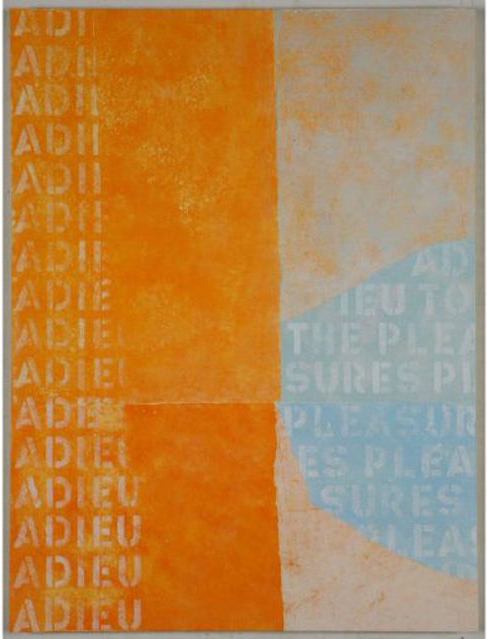 Adieu to the Pleasures , 2009-2012 Mixed Media 40 × 30 in. (101.6 × 76.2 cm)