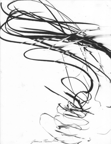 Jaanika Peerna  Air Dance Series , 2010 wax pencil on mylar 10 1/2 x 8 1/2 in. unframed, 13 1/2 x 11 in. framed