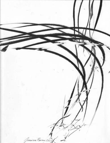 Jaanika Peerna  Air Dance Series ,2010 wax pencil on mylar 10 1/2 X 8 1/2 in. unframed, 13 1/2 x 11 in. framed