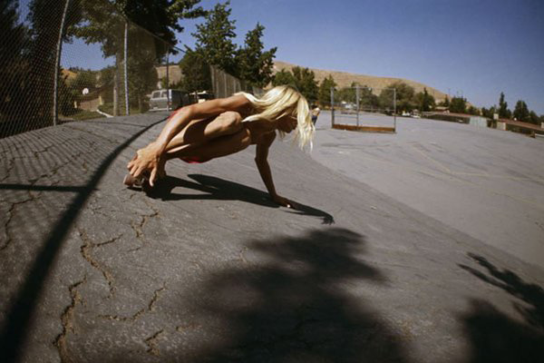 Hugh Holland  Asphalt Angel, Kenter Canyon Elementary,  1976 chromogenic print 11 x 14 in.  edition 1 of 15