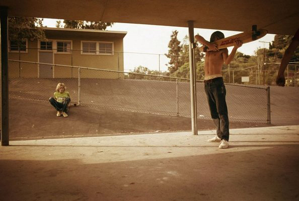 Hugh Holland  Skate Shooter  , Kenter Canyon Elementary, 1976 chromogenic print 11 x 14 in. edition 1 of 15