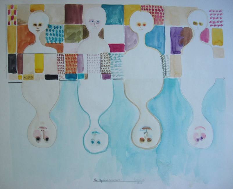 Sarah Frassinelli  W37, Members of the Board , 1963 watercolor and pencil on paper 12 x 14 1/2 in.