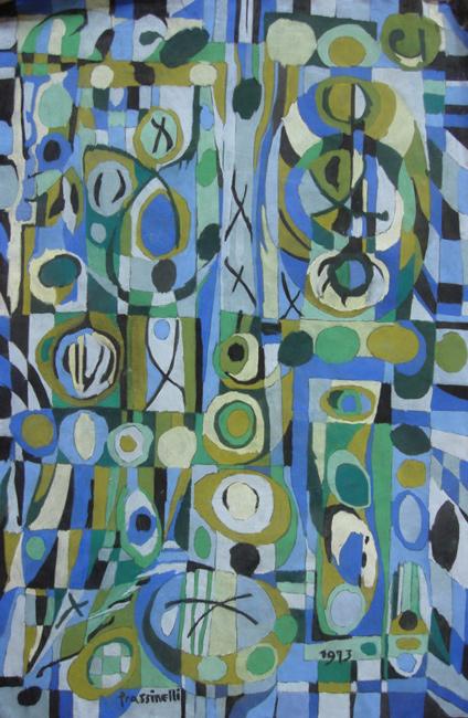 Sarah Frassinelli  P4, 1973 pastel on paper 40 x 26 1/4 in.