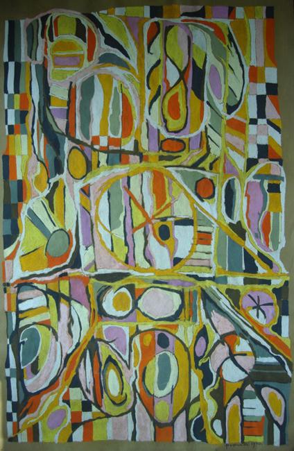 Sarah Frassinelli  P8, 1970 pastel on paper 38 1/2 x 24 1/2 in.