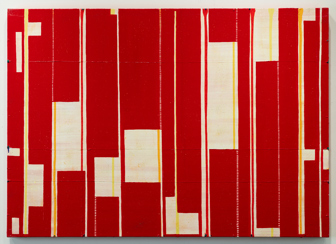 Caio Fonseca  Fifth Street C11.15,  2010 mixed media on canvas 37 x 52 in.