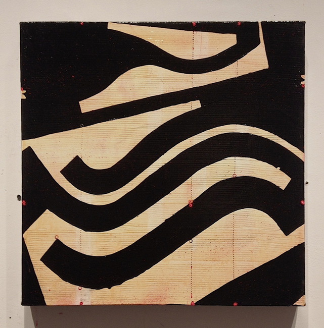 Caio Fonseca  Fifth Street C13.13, 2010 mixed media on canvas 24 x 24 in.