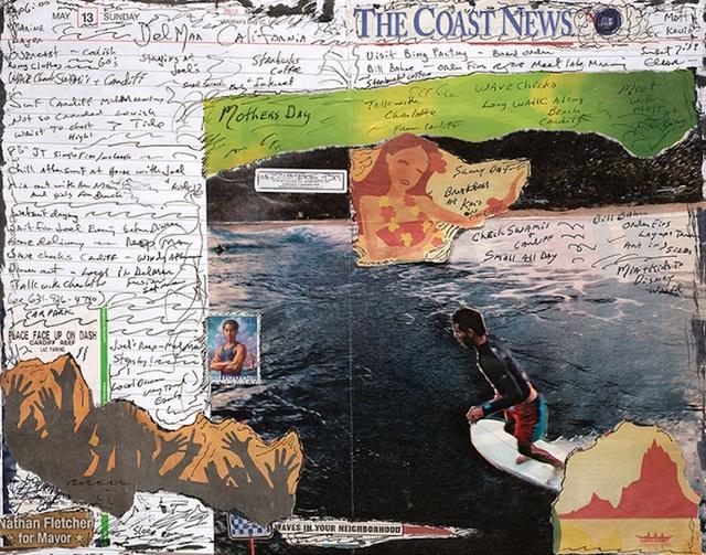 Tony Caramanico  Coast News, May 13, 2012 , 2014 available as: 16 1/4 x 18 3/4 in. print (edition of 12) 27 x 33 in. print (edition of 12) 34 x 43 in. (stretched canvas print, edition of 7) 4 x 55 1/4 in. (edition of 3)