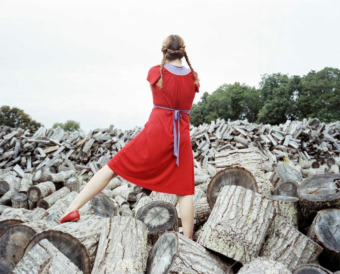 Bastienne Schmidt  The Red Dress, Sagaponack ,  2008 , 2008 c-print 30 x 40 in. (edition of 9) 20 x 24 in. (edition of 15) 16 x 20 in. (edition of 25)