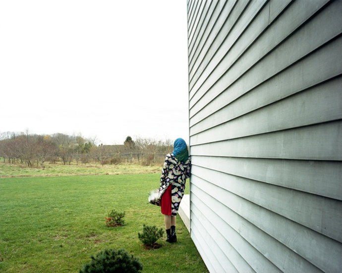 Bastienne Schmidt  Grey House Wall, Bridgehampton, 2003 , 2010 c-print 30 x 40 in. (edition of 9) 20 x 24 in. (edition of 15) 16 x 20 in. (edition of 25)