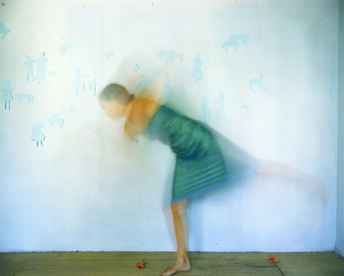 Bastienne Schmidt  Turquoise Little Silhouettes, Samos, 2004 , 2004 c-print 30 x 40 in. (edition of 9) 20 x 24 in. (edition of 15) 16 x 20 in. (edition of 25)