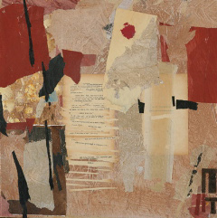 Maria Noel  The Temple , 2009 mixed media on board 19 x 19 in.