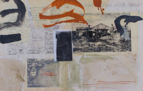 Maria Noel  Westbound , 2010 mixed media on canvas 44 1/2 x 69 1/4 in.