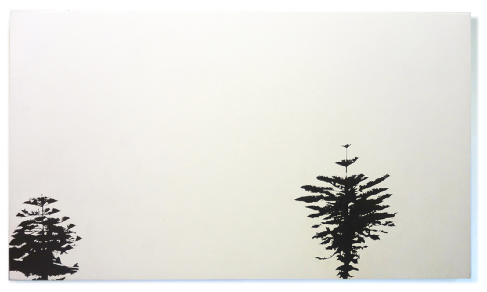 Meghan Gerety  The space between the finite and the infinite, 2001 graphite on clayboard panel 24 x 48 in.