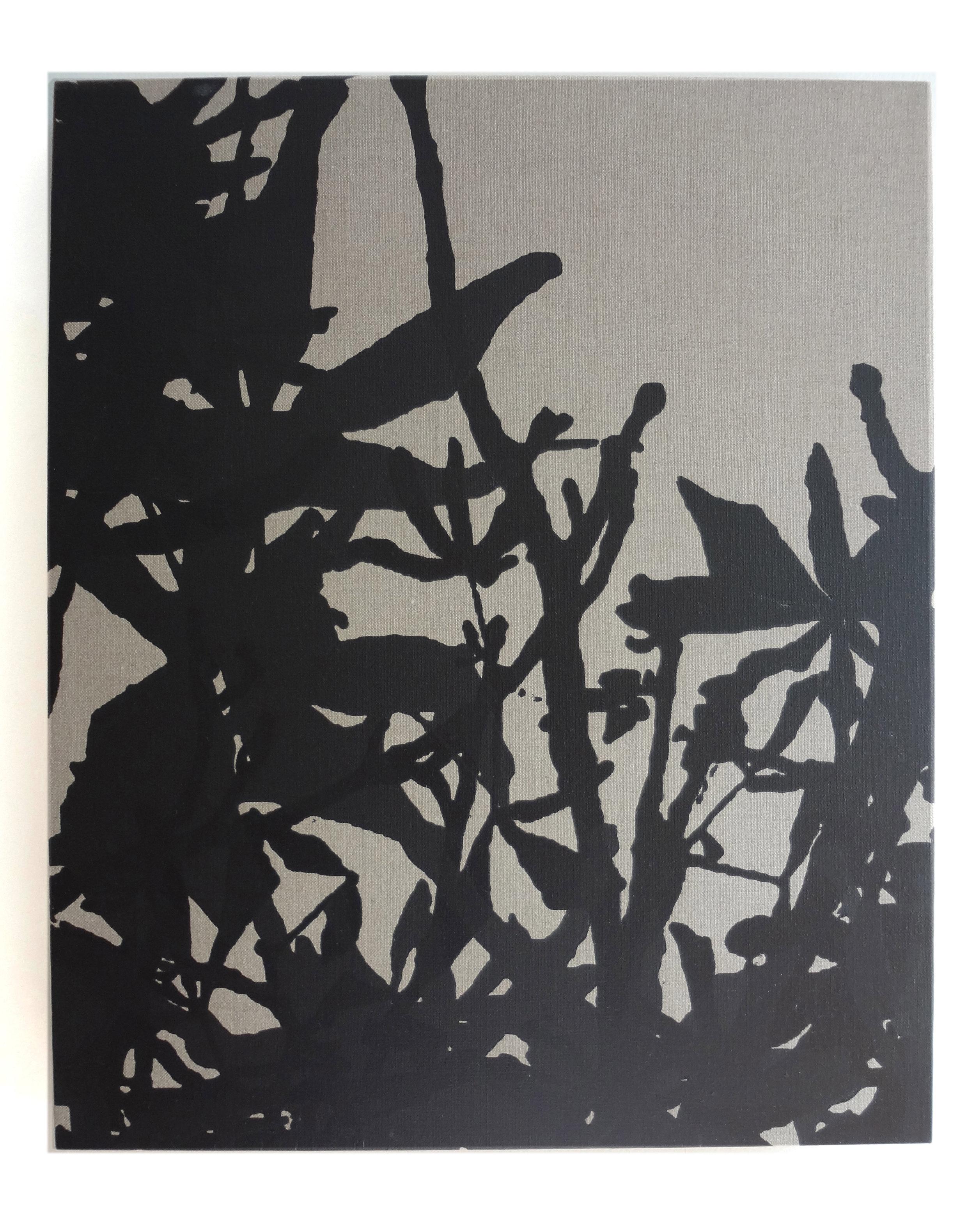 Meghan Gerety  Study , 2012 silkscreen on linen 24 x 16 in.