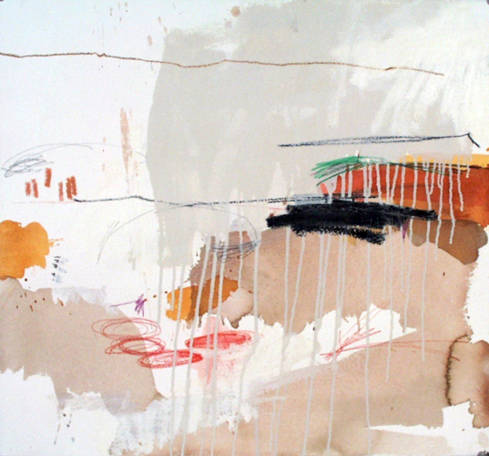 Michael Rich  Elsewhere II , 2004 mixed media on paper 22 x 24 in.