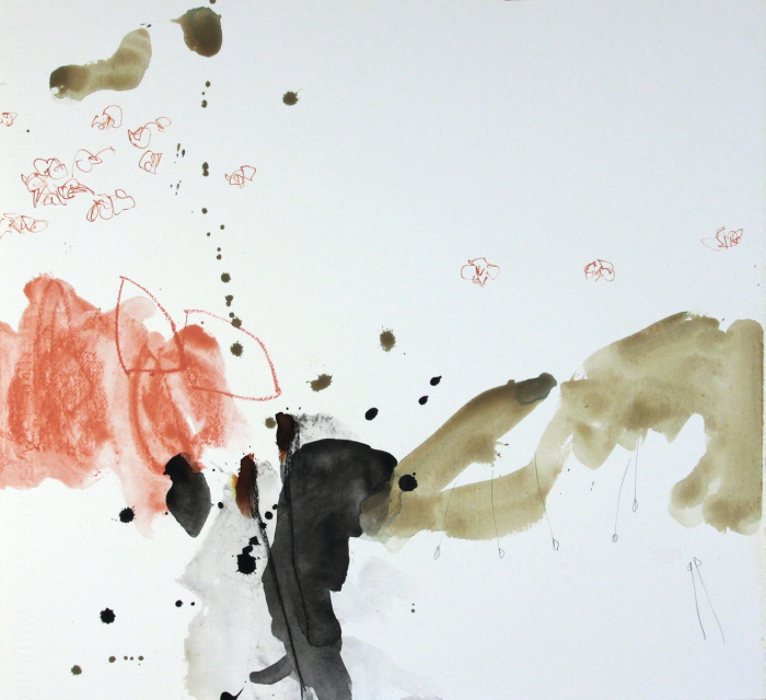Michael Rich  Blossoms 2 , 2010 mixed media on paper 22 x 24 in.