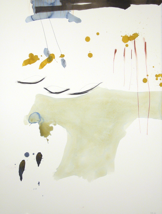 Michael Rich  Tuscana Drawing 77 , 2007 mixed media on paper 30 x 22 in.