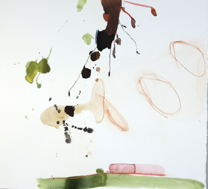 Michael Rich  Blossoms 6 , 2010 mixed media on paper 22 x 24 in.