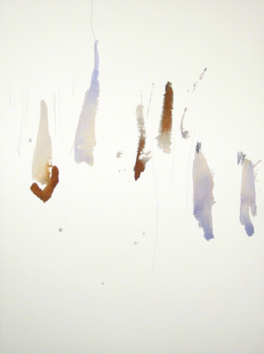 Michael Rich  Tuscania Drawing 67 , 2007 mixed media on paper 30 x 22 in.