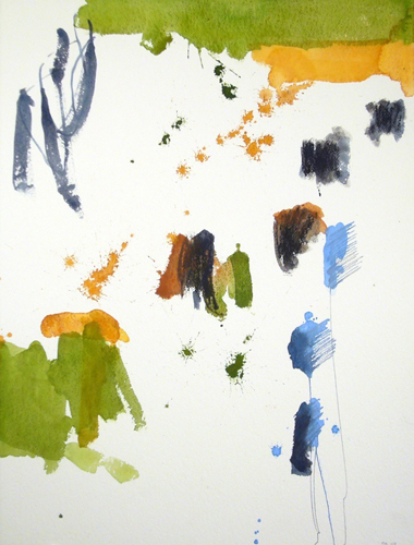Michael Rich  Tuscania Drawing 23 , 2007 mixed media on paper 30 x 22 in.